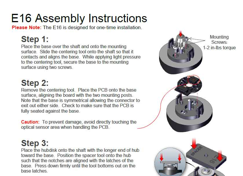 E16 Assembly Instructions