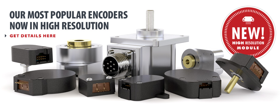 Our Most Popular Encoders Now in High Resolution