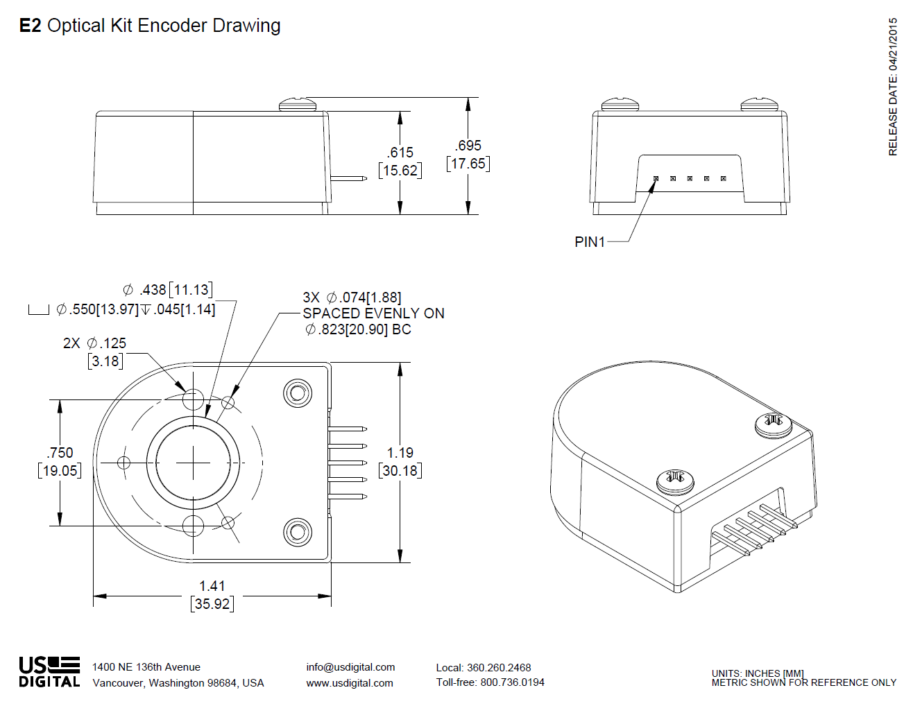 Us Digital Products E2 Optical Kit Encoder 3 Way Switch Wiring Diagram For Free Download Ex 120 Assembly Instructions