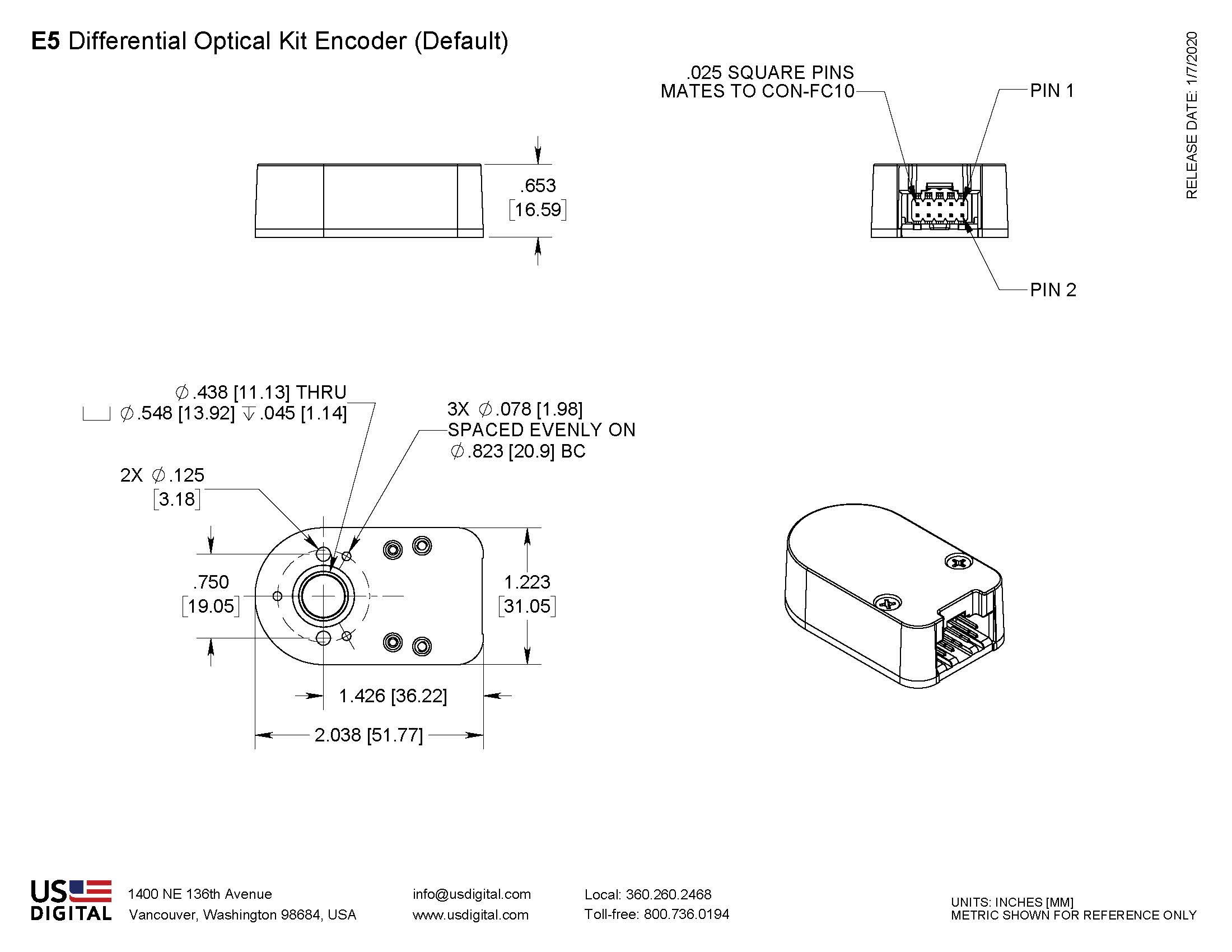 US Digital® | Products » E5 Optical Kit Encoder » Assembly