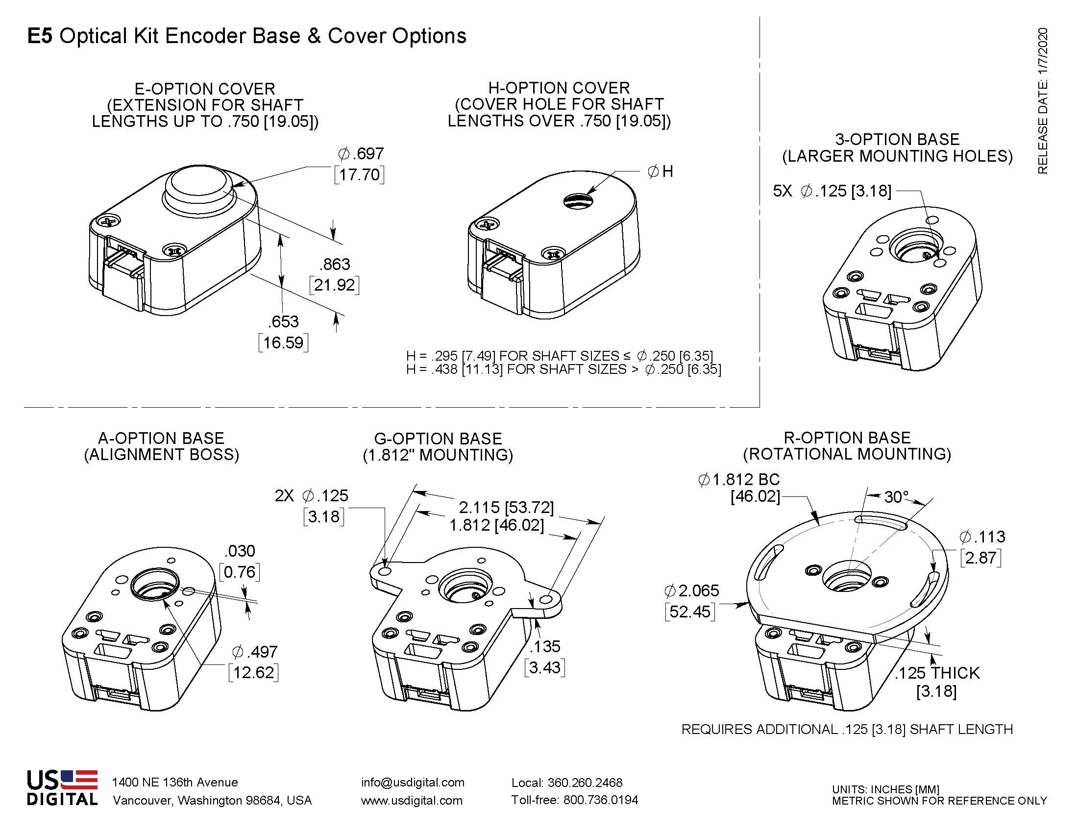 US Digital® | Products | E5 | Optical Kit Encoder