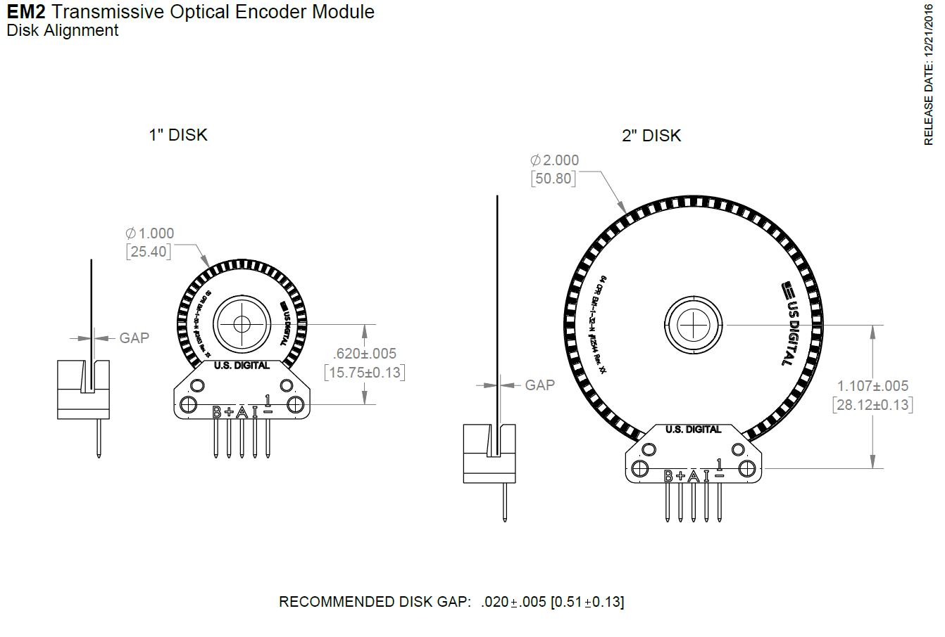 US Digital® | Products | EM2 | Transmissive Optical Encoder