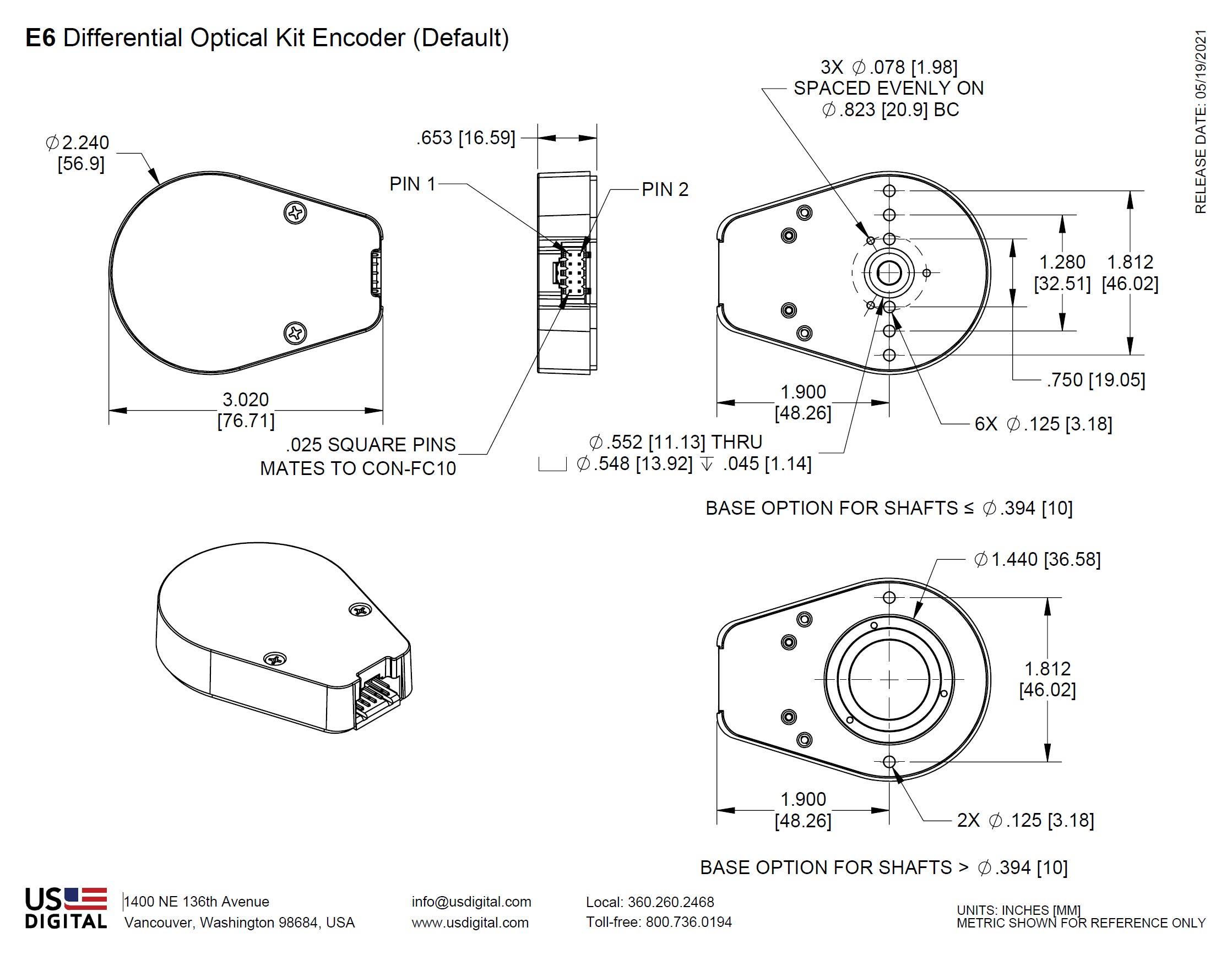 encoder 7 pole wiring diagram us digital   products e6 optical kit encoder  products e6 optical kit encoder