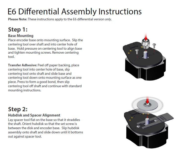 E6 Differential Assembly Instructions