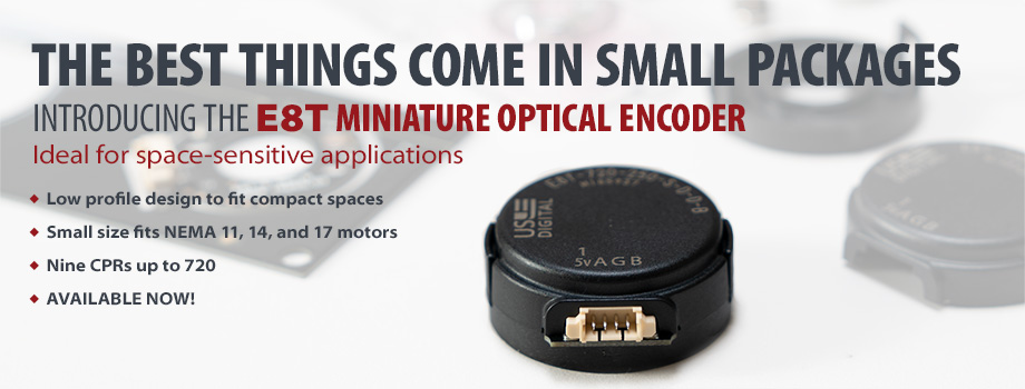 E8T Miniature Optical Kit Encoder