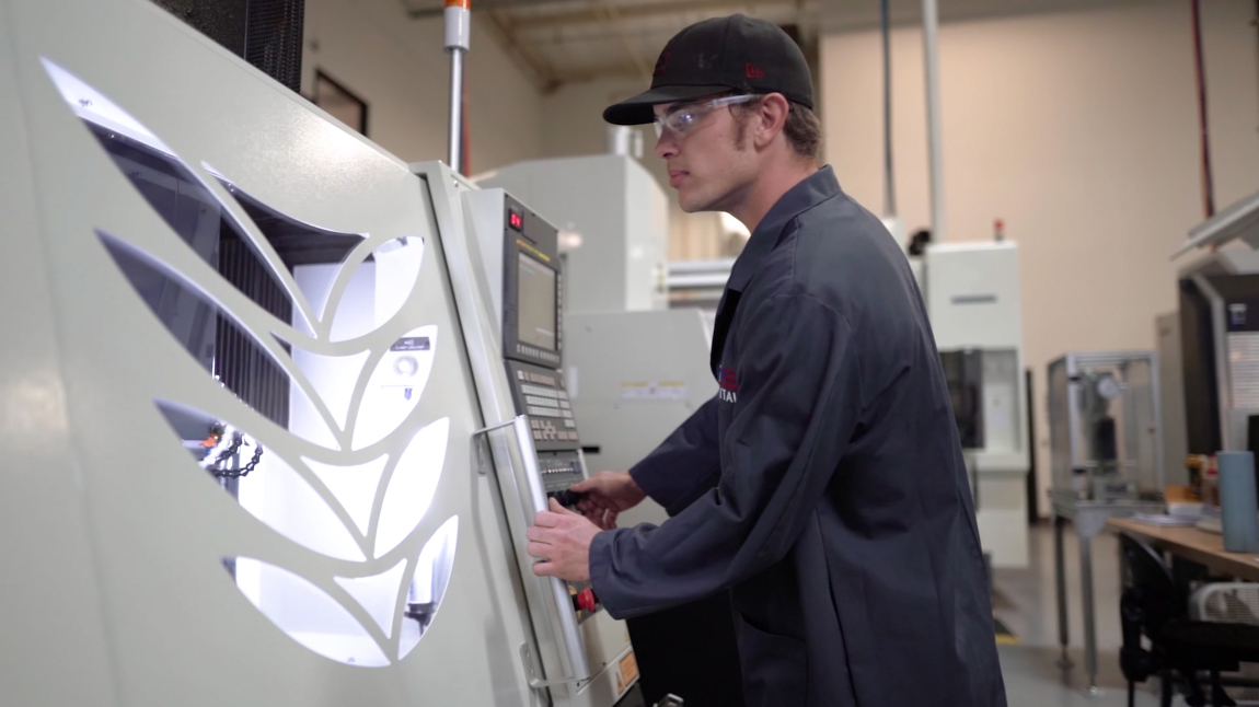 US Digital Machinist Trevor Goforth helped bring the digital design of LIAS to life.